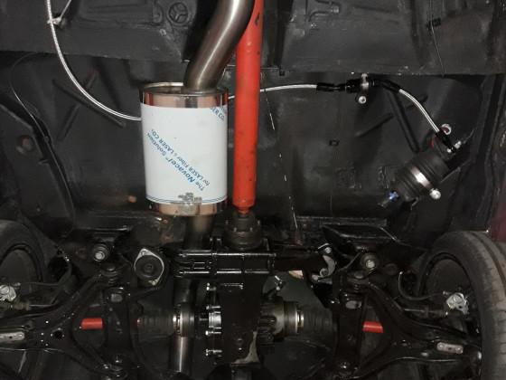 Fox Abgasanlage am Audi 90